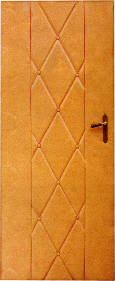 PETROMILA čalounění dveří 90x200cm okrová