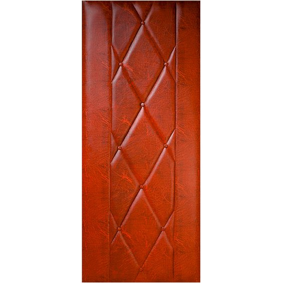 Koženkové čalounění dveří 90x200cm - ořech