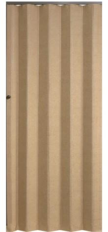 Koženkové shrnovací dveře PETROMILA šířka 70cm ODSTÍN: BÉŽOVÁ, TYP: prosklené, VÝŠKA DVEŘÍ: 181-190c
