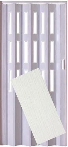 Plastové shrnovací dveře LUCIANA bříza ŠÍŘKA: 73cm, PROVEDENÍ: PLNÉ