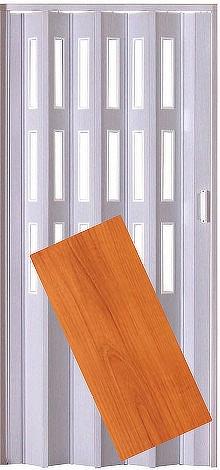 Plastové shrnovací dveře LUCIANA třešeň ŠÍŘKA: 73cm, PROVEDENÍ: PLNÉ