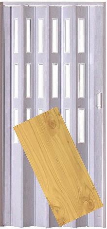 Plastové shrnovací dveře LUCIANA borovice ŠÍŘKA: 73cm, PROVEDENÍ: PLNÉ