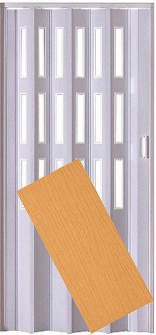 Plastové shrnovací dveře LUCIANA buk ŠÍŘKA: 73cm, PROVEDENÍ: PLNÉ