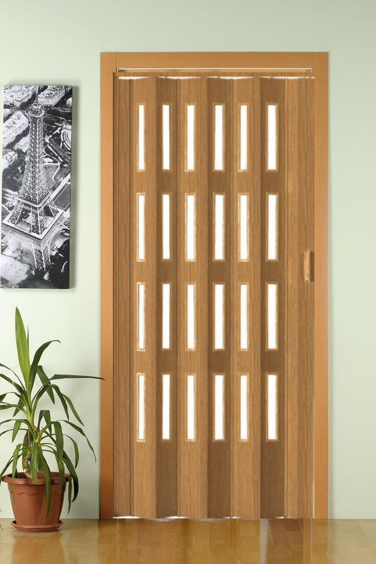 Shrnovací dveře PETROMILA odstín DUB ROZMĚR: 62x200cm