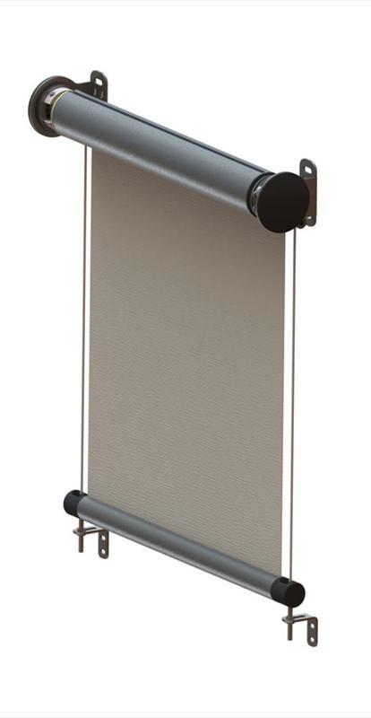 Screenová roleta na terasy a pergoly šířka 200cm VÝŠKA: 501-600mm, TYP: motorové + spínač