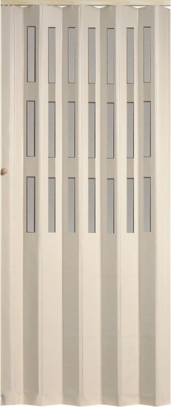 Shrnovací dveře koženkové, 83x200cm TYP: plné