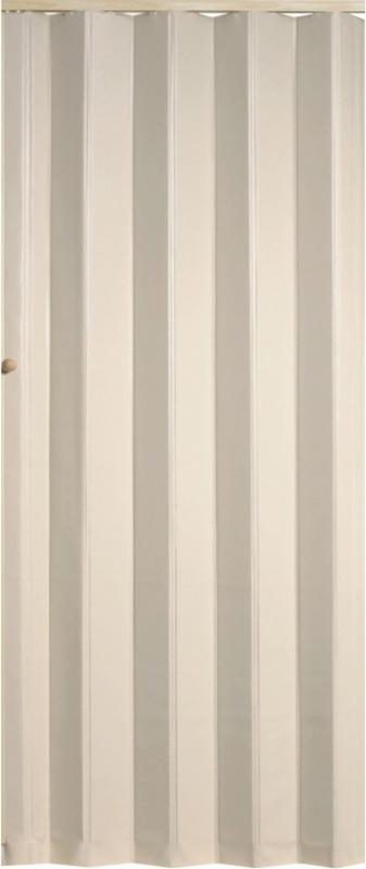 PETROMILA Koženkové shrnovací dveře bílá 83x200cm TYP: plné