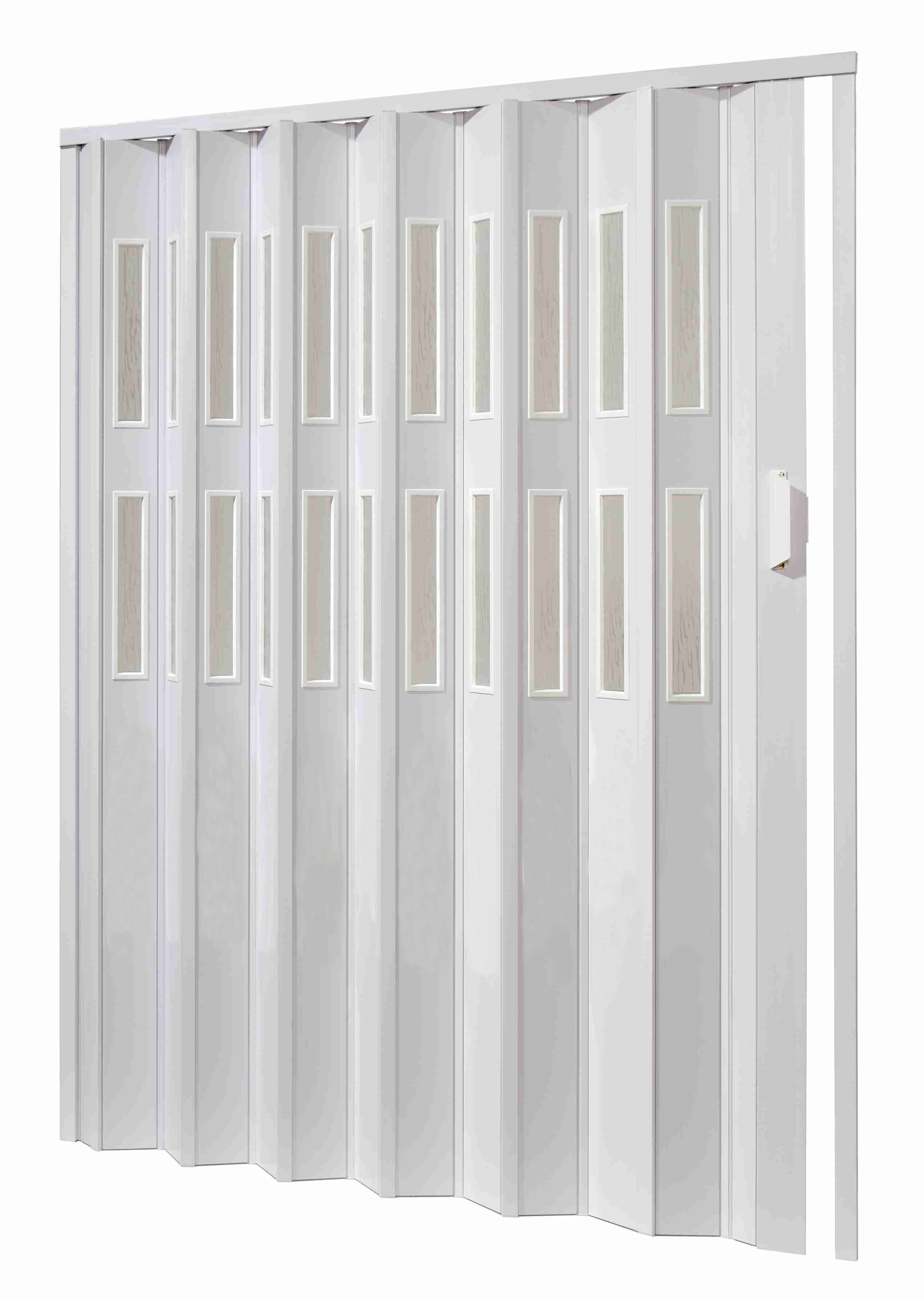 Shrnovací dveře - hnědé prosklené ODSTÍN: BÍLÁ, TYP DVEŘÍ: plné