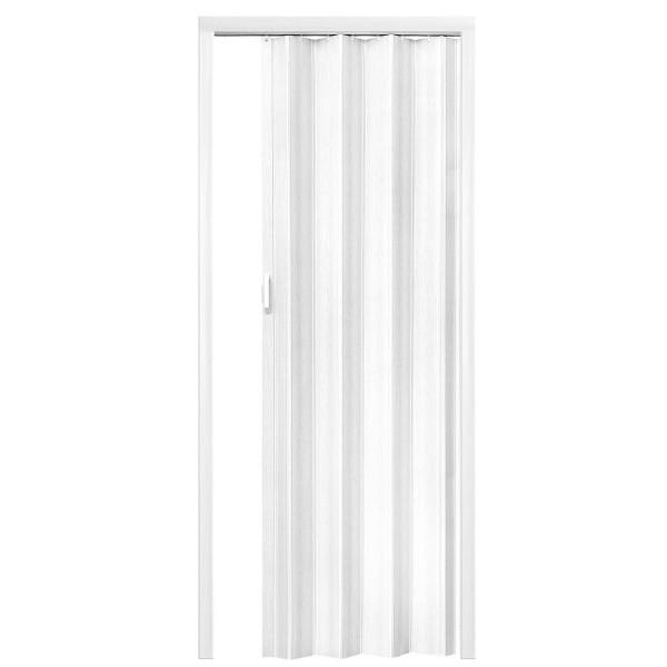 Plastové shrnovací dveře BÍLÁ 80x203cm