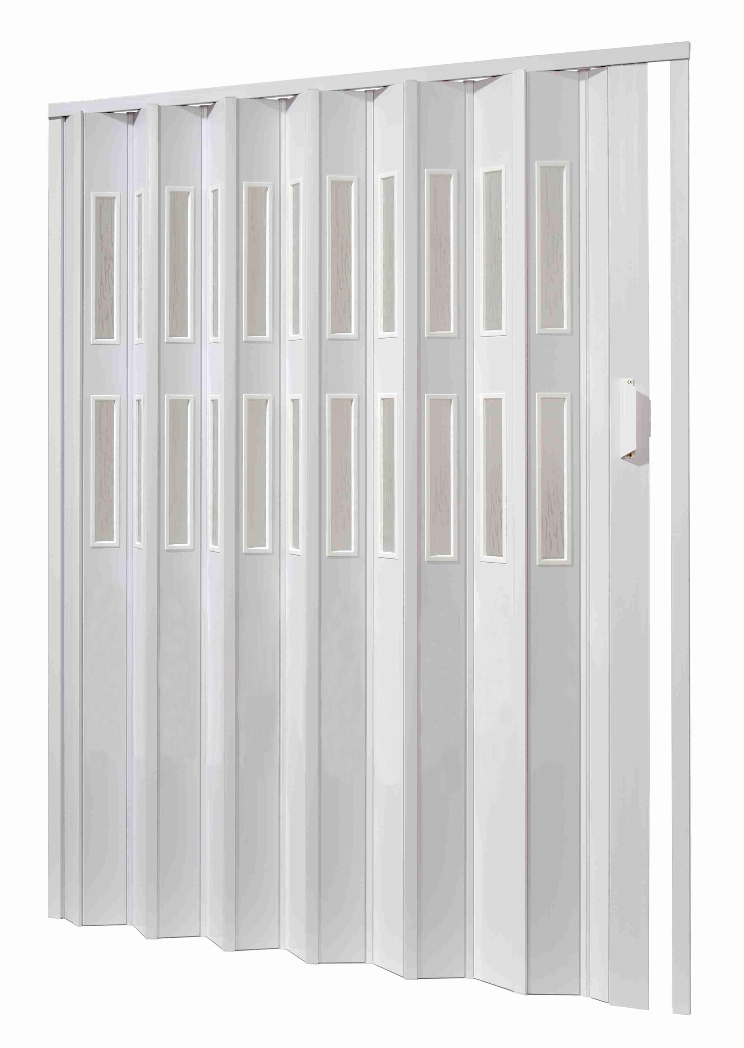 Shrnovací dveře PETROMILA prosklené bílé ODSTÍN: BÍLÁ, TYP DVEŘÍ: plné