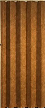 Koženkové shrnovací dveře 83x200cm hnědá žíhaná TYP: plné