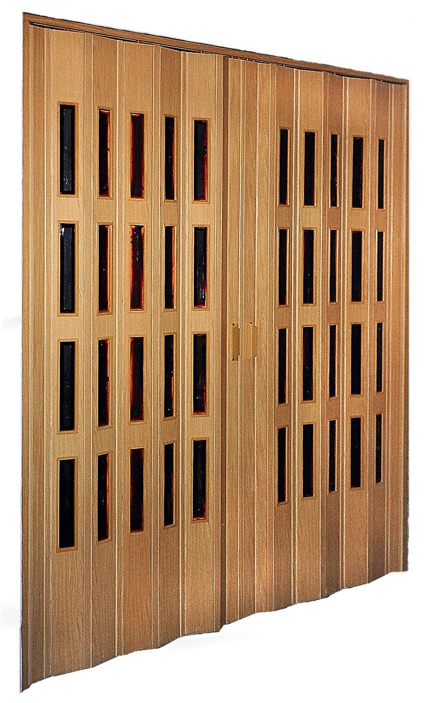 Shrnovací dvoukřídlé dveře, šířka 229-240cm VÝŠKA: do 200cm, ODSTÍN: ZÁKLADNÍ ( bílá nebo hnědá ), zavírání: MADLO S MAGNETEM, prosklení: BEZ…