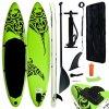 Nafukovací SUP paddleboard 320 x 76 x 15 cm zelený