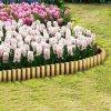 Trávníková palisáda z kůlů 25 ks 5 x 40 cm