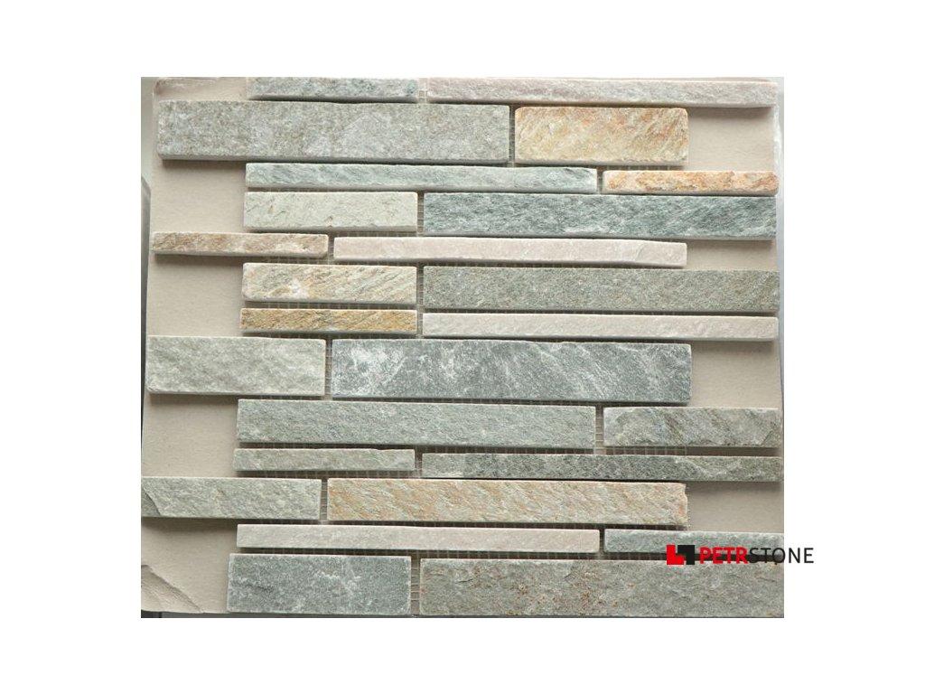 Přírodní mozaika QUARZIT BEIGE BUNT 30,5 x 30,5 cm