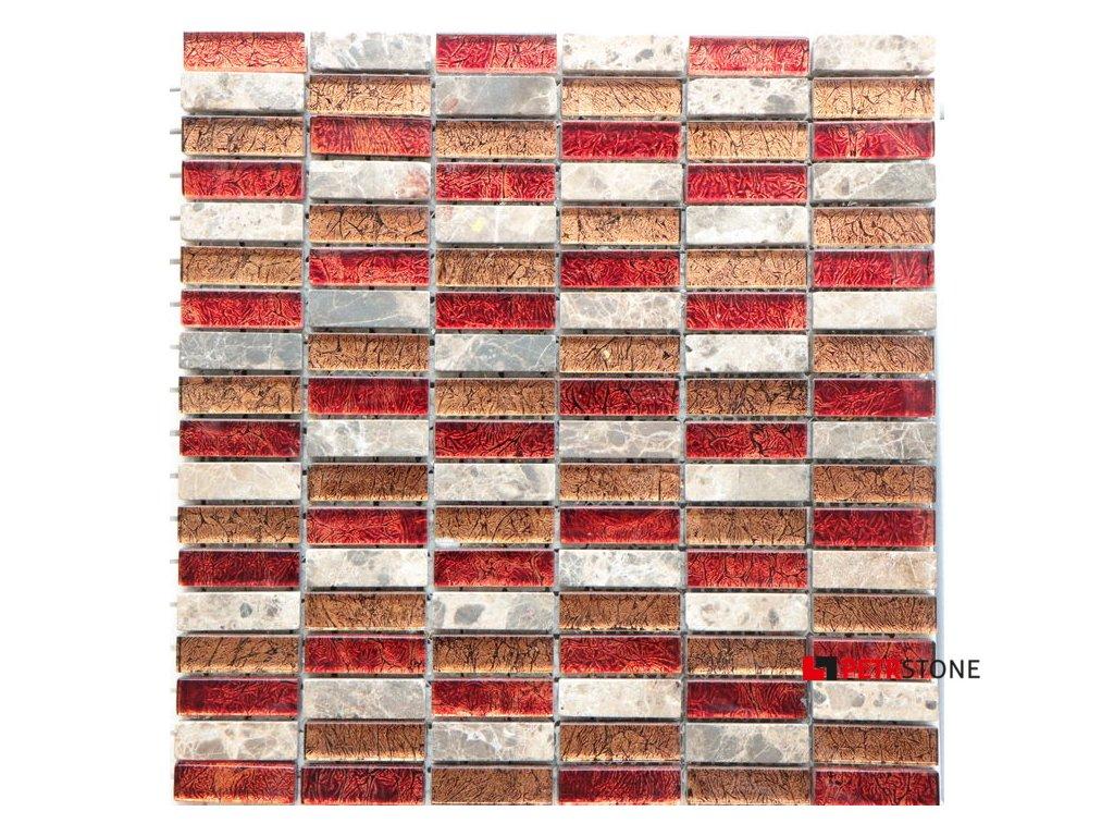 Přírodní mozaika MARMOR MARRON 30 x 30 cm
