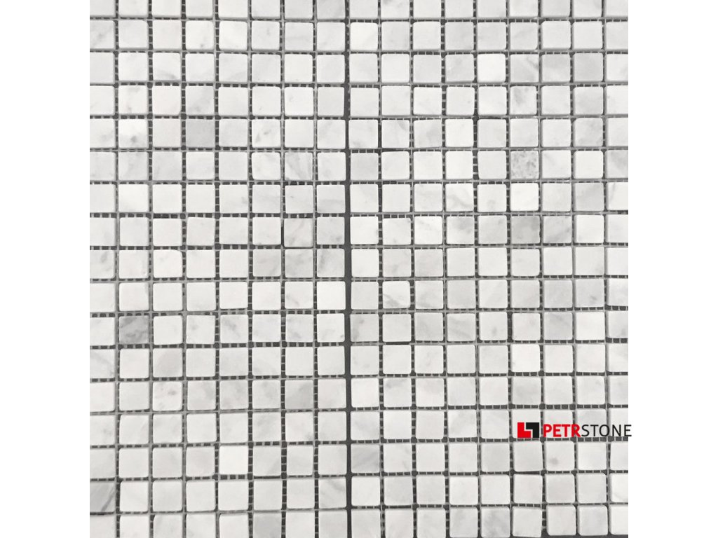 Přírodní mozaika MARMOR WHITE WAVE 30,5 x 30,5 cm