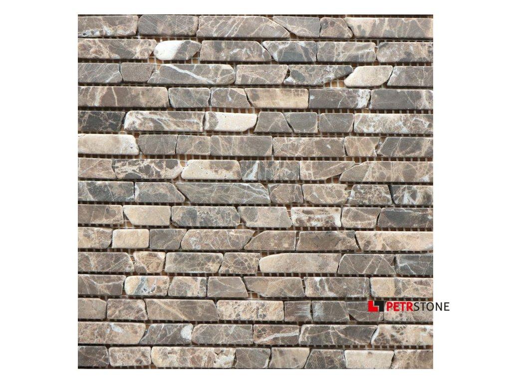 Přírodní mozaika MARRON BRICK TUMBLED 30,5 x 30,5 cm