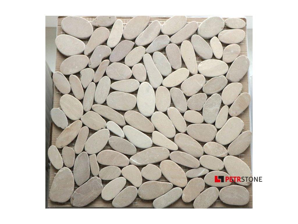 Přírodní mozaika KIESEL TAN FLAT 30,5 x 30,5 cm
