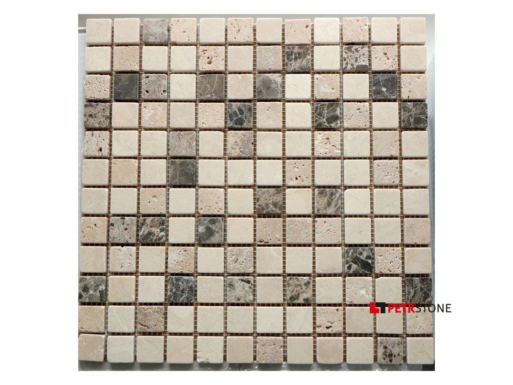 Přírodní mozaika KRONOS MULTICOLOR 30,5 x 30,5 cm