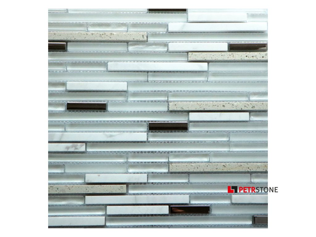 Přírodní mozaika QUARTZ WHITE 30 x 30 cm