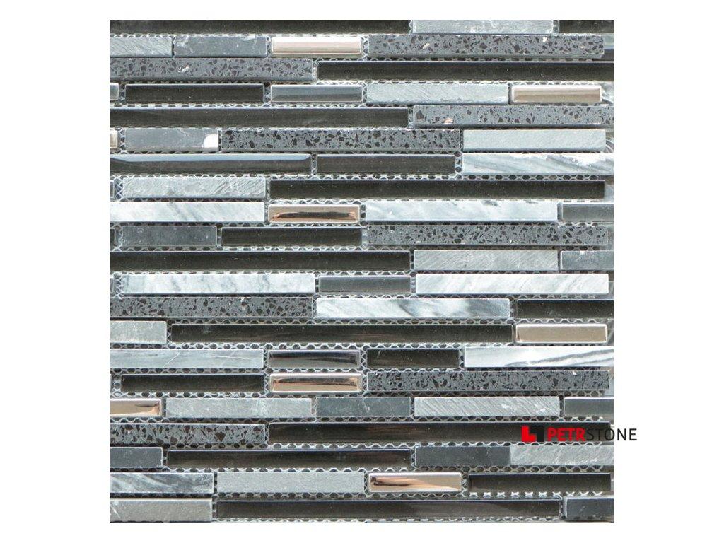 Přírodní mozaika QUARTZ BLACK 30 x 30 cm