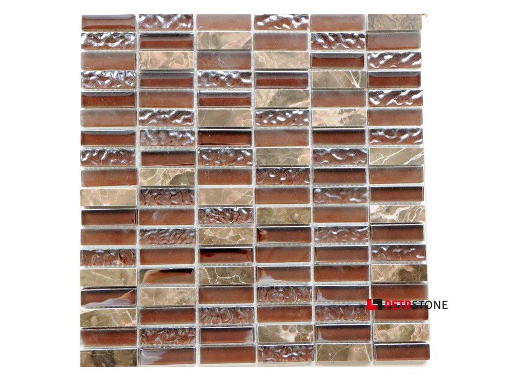 Přírodní mozaika MIX BROWN 30 x 30 cm