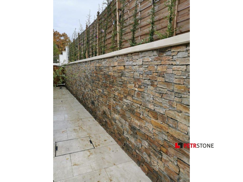 Kvarcit Rustik hrubý - na kovové mřížce 20x55 cm