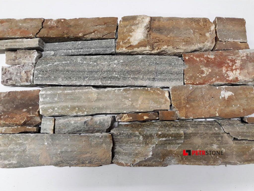 Kvarcit Nordic hrubý - na kovové mřížce 20x55 cm