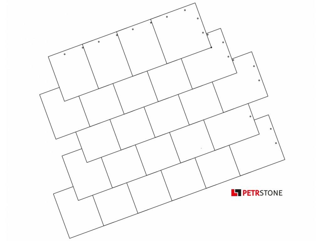 Moravské krytí čtvercem vzor