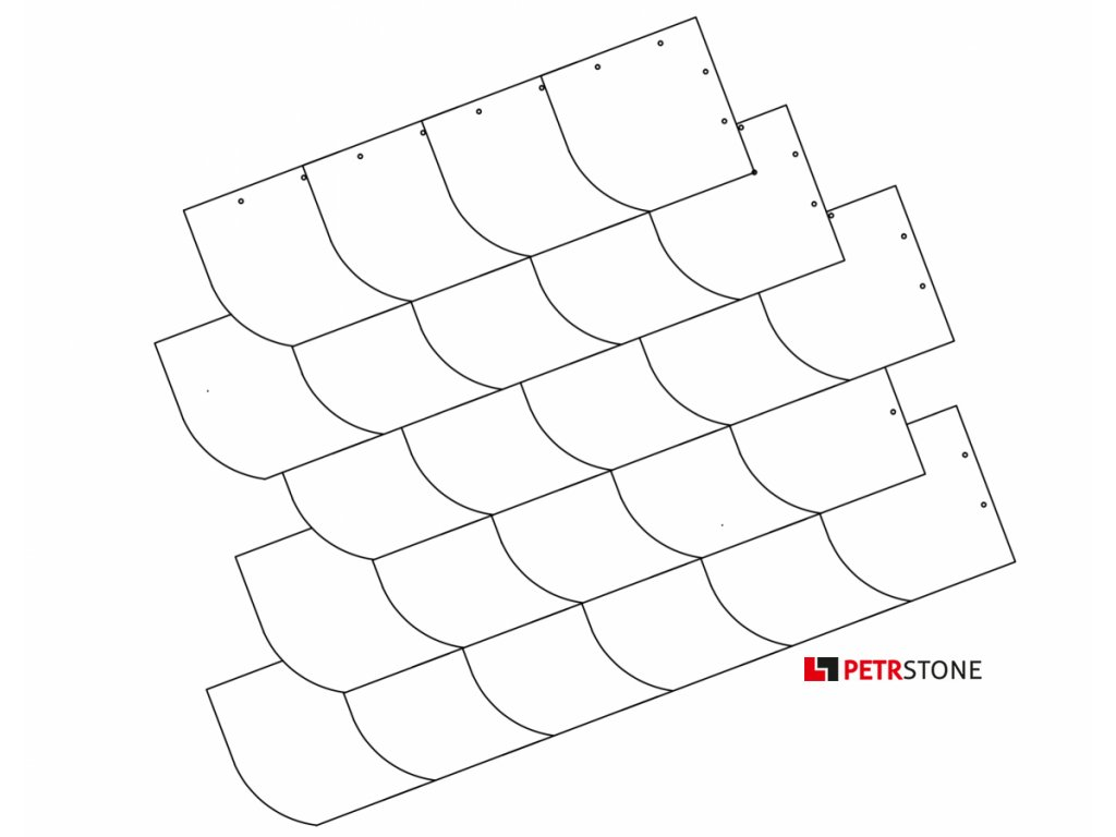 Německé krytí čtverec s obloukem