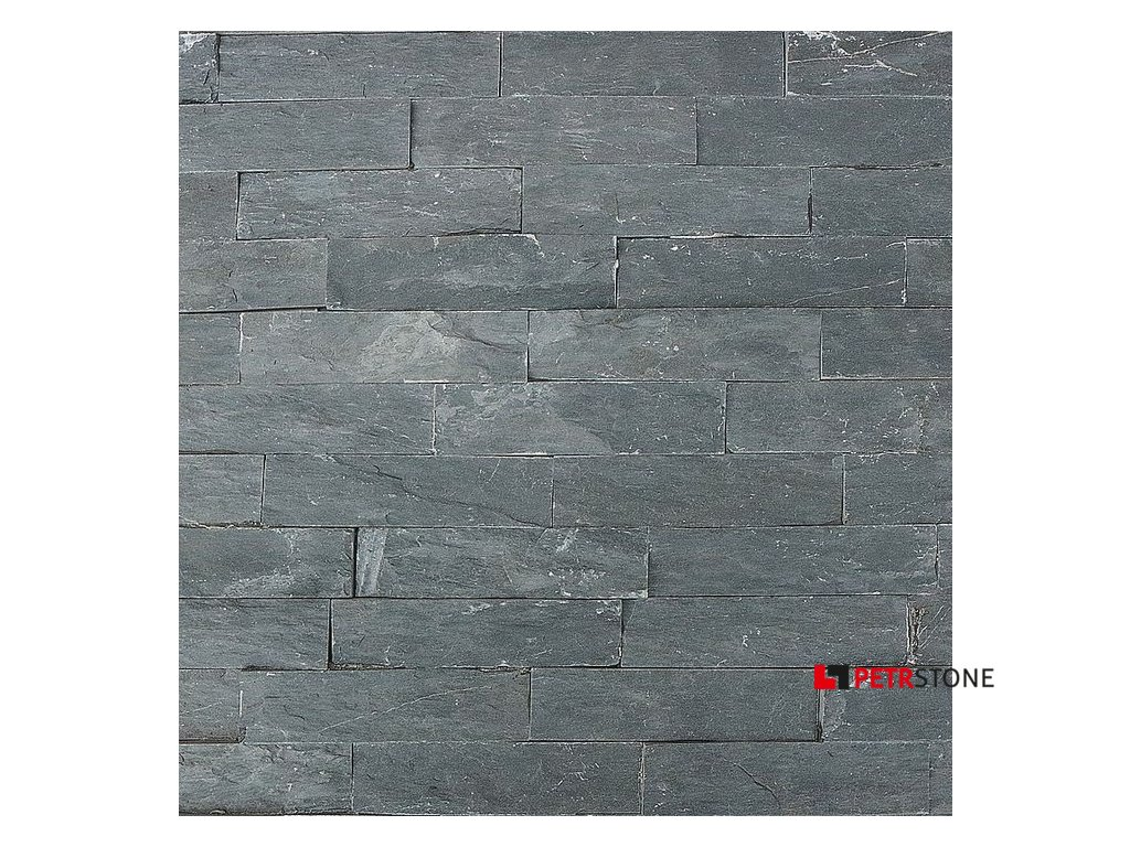 Přírodní obklad Břidlice Black Slate 15x55 cm