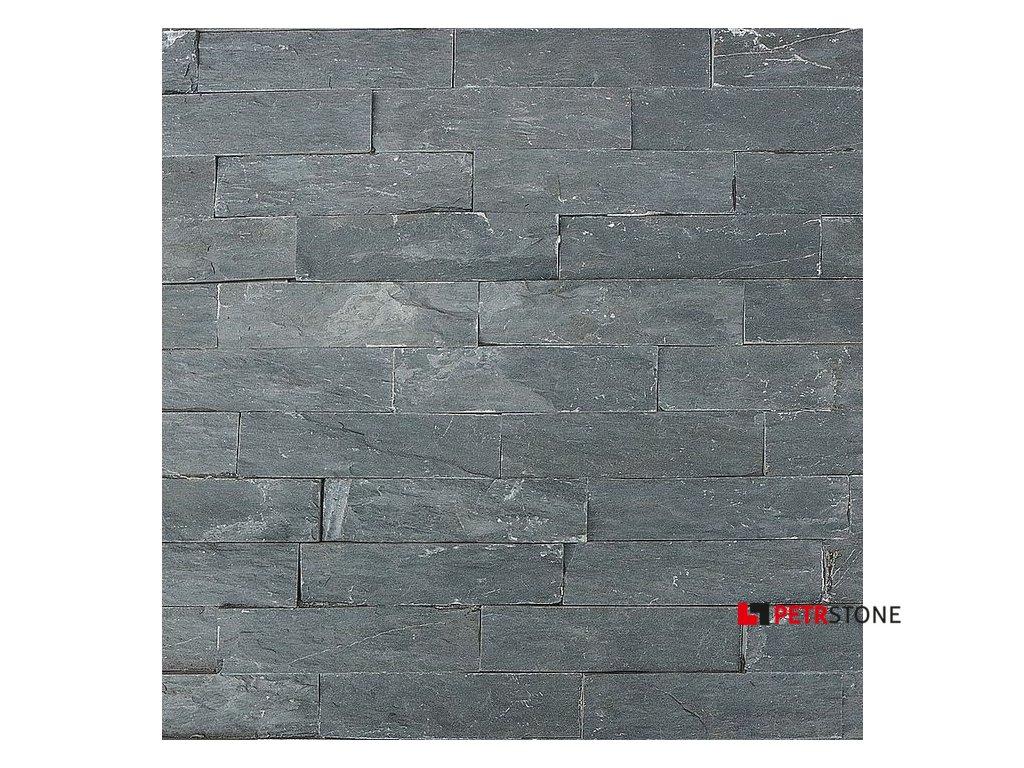 Přírodní obklad Břidlice Black Slate Edge 15x55 cm