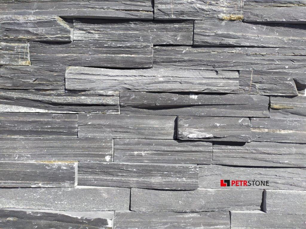 Břidlice Black Slate Extra Cut 15x55 cm AKČNÍ CENA!!!
