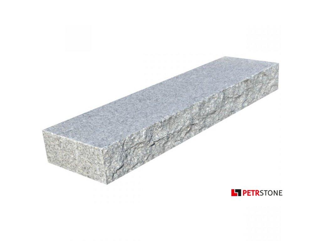 Žulový blok G602 štípaný a opalovaný 130x35x15 cm 1
