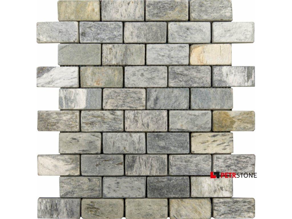 mozaika kamienna silver shine brick 30 5x30 5x1