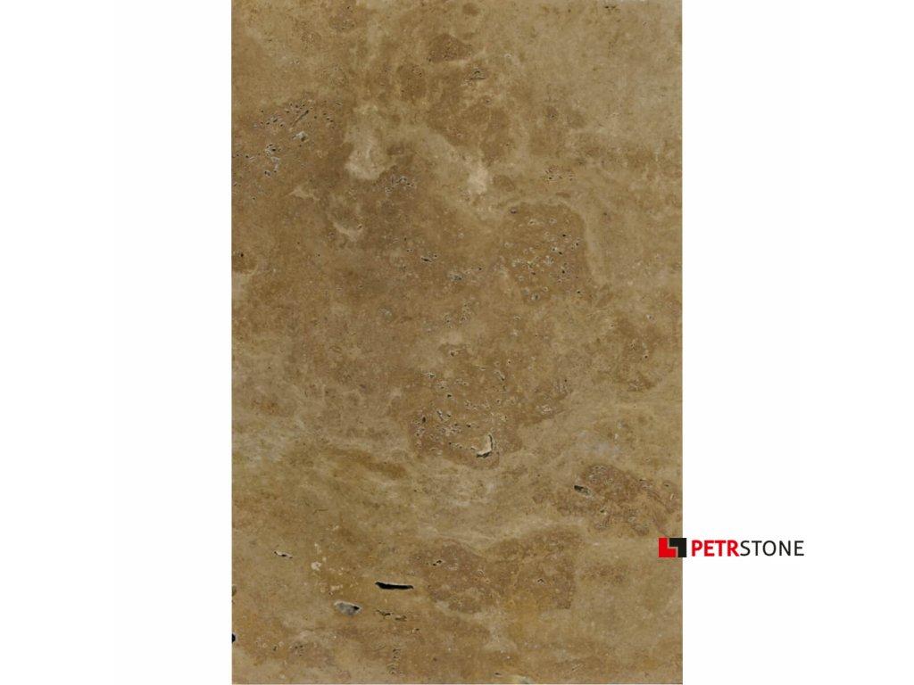 Travertine Noche dlaždice kartáčované 61x40,6x1,2 cm 1