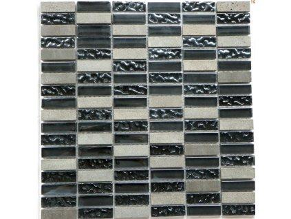 Přírodní mozaika MIX BASALT 30 x 30 cm