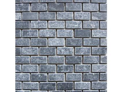 Přírodní mozaika BLACK MARBLE TUMBLED 2,3 x 4,8 cm