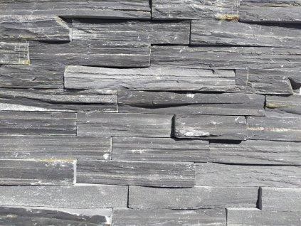 Břidlice Black Slate Extra Cut 15x55 cm