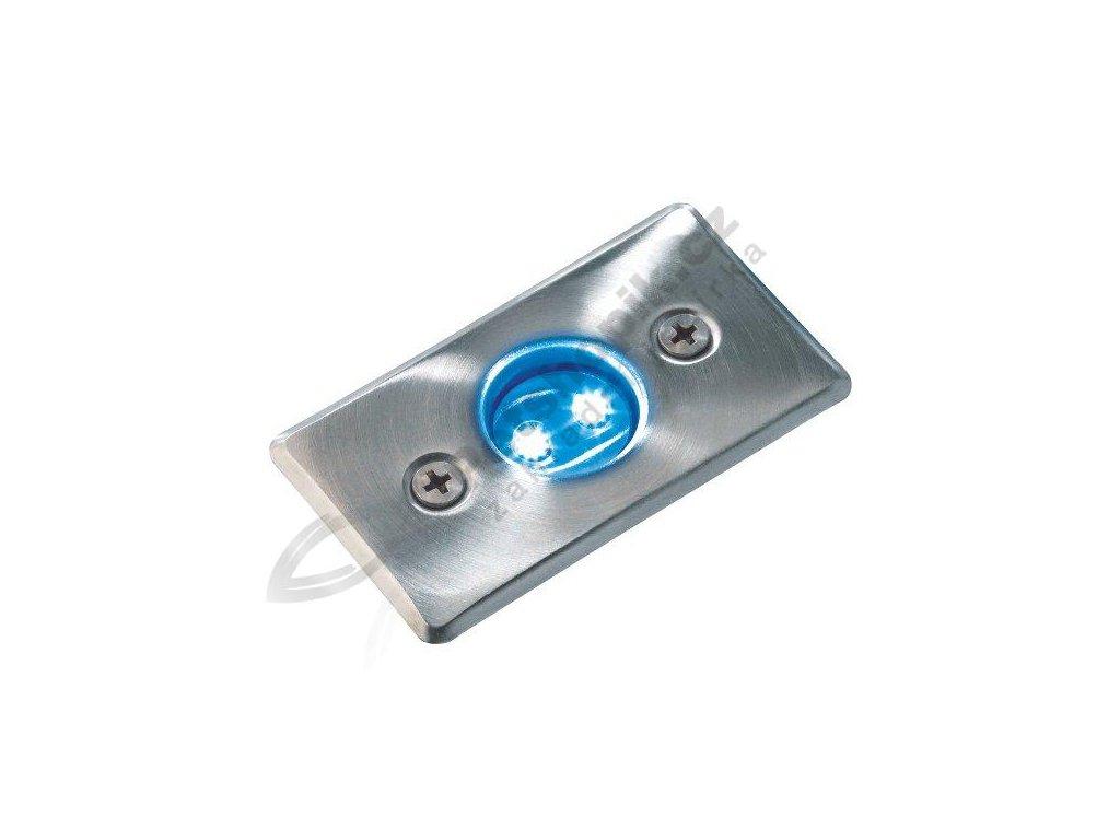 LED svítidlo AXIS - Nerez (modrá)