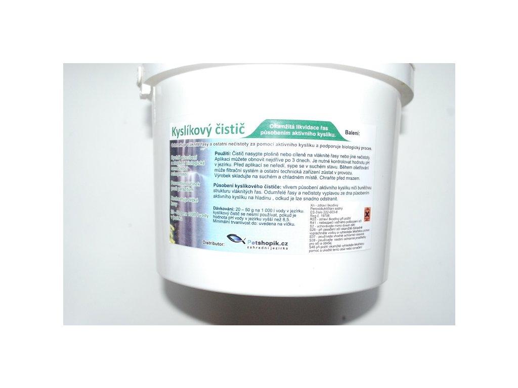 Kyslíkový čistič 2,5 kg na 50-125m3 vody