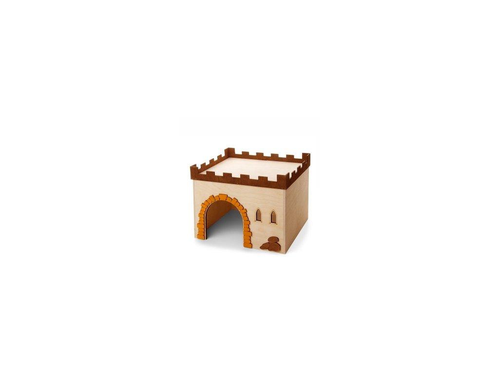 33017 jk animals dreveny domek hrad c 4 kralik 29 24 5 22 5 cm 0