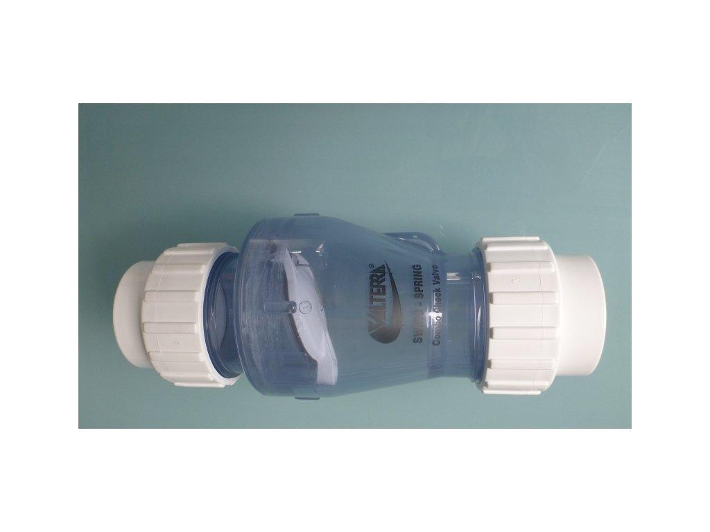 Zpětná klapka Valterra PVC 63mm lepení x lepení bez pružiny