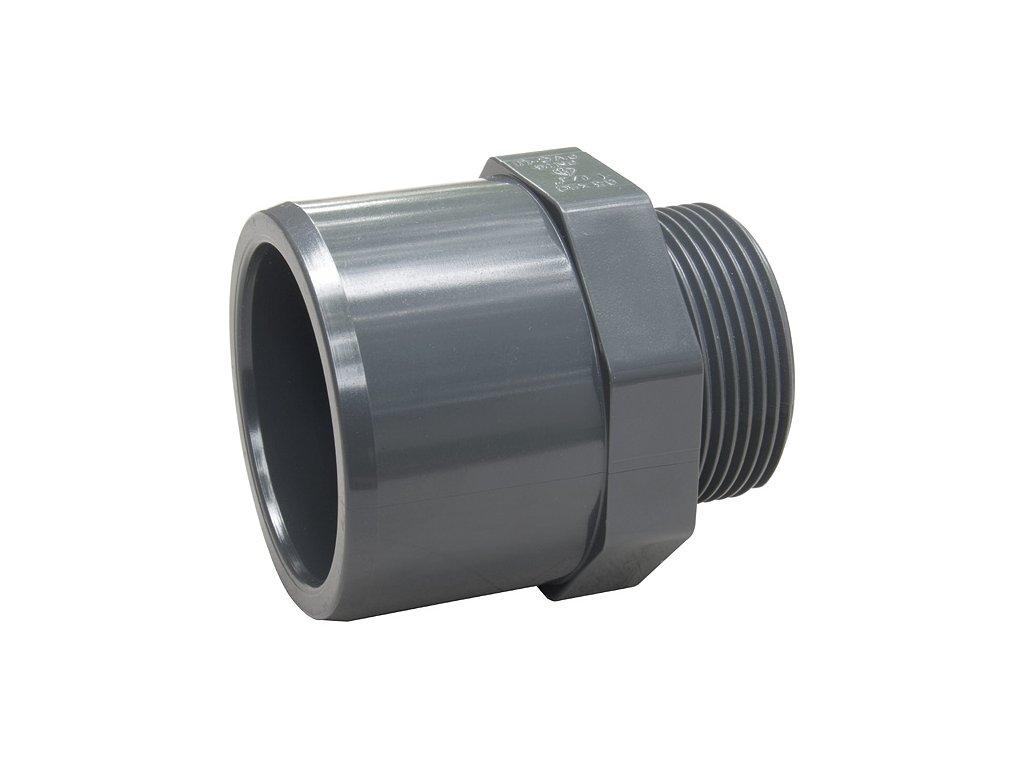 PVC přechodový nipl - lepení x vnější závit