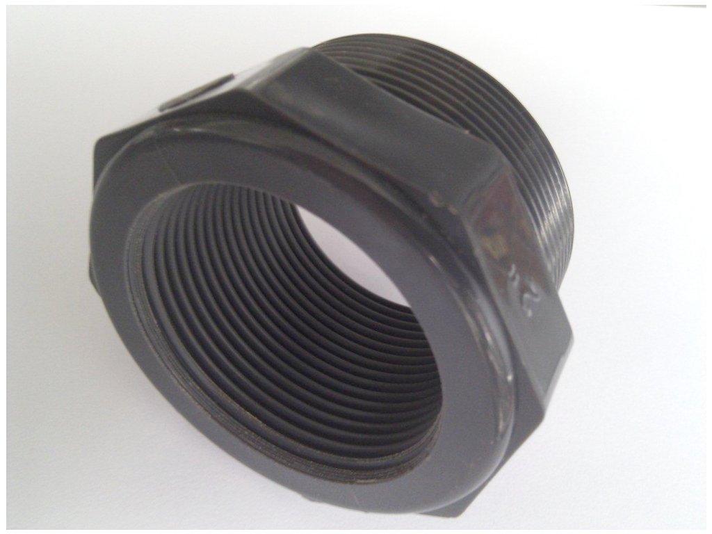 PVC krátký přechodový nipl - vnitřní x vnější závit