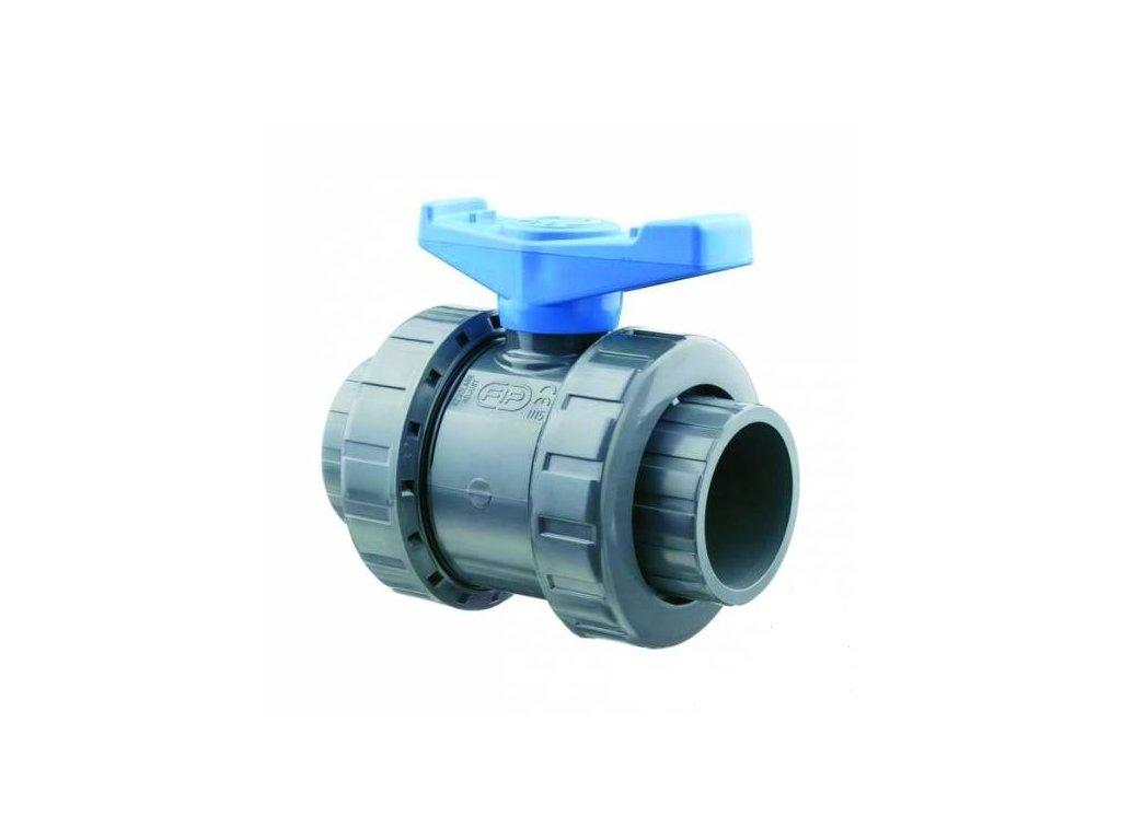 PVC kulový ventil - lepení x lepení