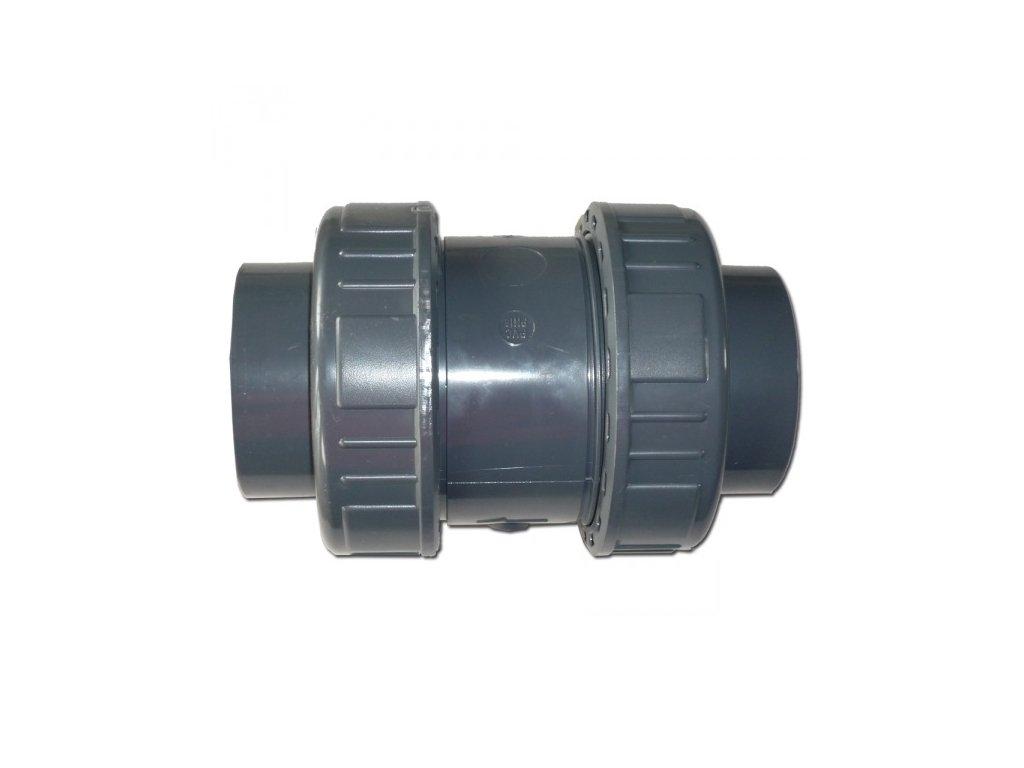 Zpětná klapka PVC - lepení x lepení