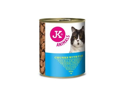 55111 jk animals chunkies with fish 820 g 0