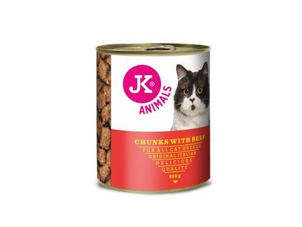 55112 jk animals chunkies with beef 820 g 0